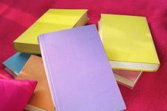Книги на одеяле Стоковые Изображения RF
