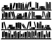 Книги на полках Стоковая Фотография