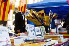 Книги на стойлах улицы в Барселоне Стоковая Фотография RF