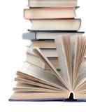 книги предпосылки закрывают вверх по белизне Стоковые Изображения