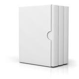 3 книги при пустая крышка коробки стоя на белизне Стоковая Фотография RF