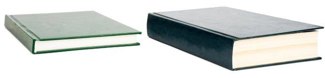 2 книги при пустые крышки изолированные на белизне Стоковые Изображения RF