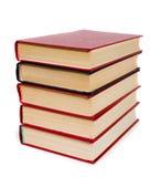 книги складывают красный цвет Стоковое фото RF