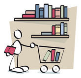 Книги смешной ванты покупая он-лайн Стоковые Изображения