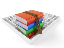 Книги с лабиринтом иллюстрация штока