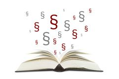 Книги с параграфами стоковое изображение