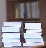 книги штабелировали Стоковое Фото