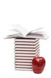 книги яблока изолировали стог Стоковое Изображение