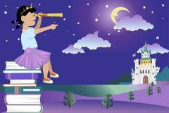 Книги для маленькой принцессы иллюстрация штока