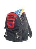 книги backpack Стоковые Изображения