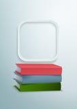 книги 3d и округленная предпосылка вектора прямоугольника Бесплатная Иллюстрация