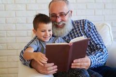 2 книголюба излучающие с радостными эмоциями Стоковые Фотографии RF