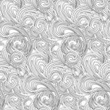 Книжка-раскраска вектора для детей и взрослых, для раздумья и ослабить Линии безшовной картины ровные как волны Черно-белое imag бесплатная иллюстрация