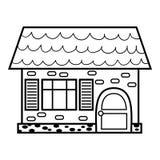 Книжка-раскраска, дом бесплатная иллюстрация