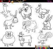 Книжка-раскраска животноводческих ферм Стоковые Изображения RF