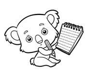 Книжка-раскраска, коала бесплатная иллюстрация