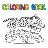 Книжка-раскраска маленьких гепарда или ягуара Стоковое фото RF