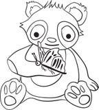 Книжка-раскраска рождества панды для детей бесплатная иллюстрация