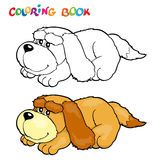 Книжка-раскраска с собакой - иллюстрацией вектора иллюстрация вектора
