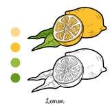 Раскраска лимона для детей