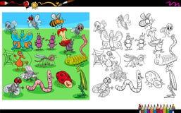 Книжка-раскраска характеров насекомых животная Стоковые Фотографии RF