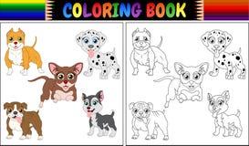 Книжка-раскраска pets шарж Стоковое Изображение