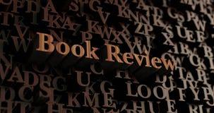 Книжное обозрение - деревянное 3D представило письма/сообщение бесплатная иллюстрация