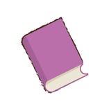 книжное обучение пурпура эскиза бесплатная иллюстрация