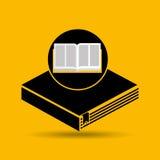 Книжное обучение раскрытое образованием иллюстрация штока