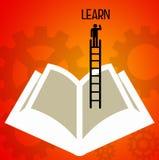 Книжное обучение иллюстрация штока