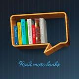 Книжные полки в форме пузыря речи Стоковые Фото