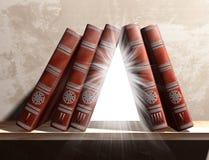 книжные полки загадочные Стоковое фото RF
