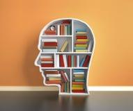 Книжные полки с книгой Стоковое Изображение