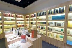 Книжные полки bookstore liudushuwu Стоковые Фото