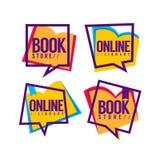 Книжный магазин и онлайн библиотека Стоковое Изображение