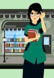 Книжный магазин студента Стоковое Изображение
