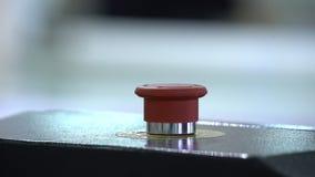 Кнопка аварийного стопа сеть вектора стопа кнопки установленная видеоматериал