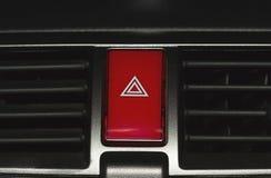 Кнопка аварийной ситуации автомобиля Стоковая Фотография