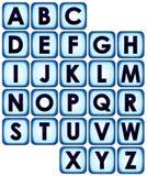 кнопка алфавита Стоковая Фотография RF