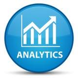 Кнопка аналитика (значка статистик) специальная cyan голубая круглая Стоковое фото RF