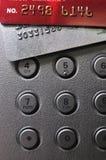 кнопка банка чешет серая мычка красного цвета нажима Стоковая Фотография