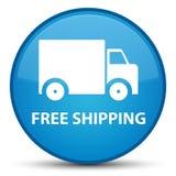 Кнопка бесплатной доставки специальная cyan голубая круглая Стоковые Фото