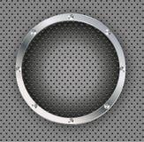 Кнопка вектора на предпосылке волокна углерода. Стоковые Изображения RF
