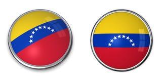 кнопка Венесуэла знамени Стоковые Изображения