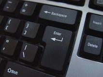 кнопка входит клавиатуру Стоковая Фотография