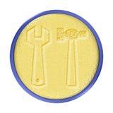 кнопка высекла инструменты золота Стоковое Изображение RF