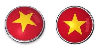 кнопка Вьетнам знамени Стоковая Фотография RF