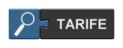 Кнопка головоломки: Тарифы Стоковое фото RF
