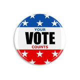 кнопка голосования 3d США Стоковое Изображение