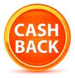 Кнопка задней части наличных денег естественная оранжевая круглая иллюстрация штока